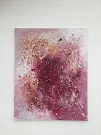 Картина акрил абстракция «Звездная пыль» - купить живопись для современных интерьеров Украина
