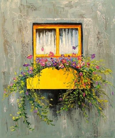 Картина «Старое окно»