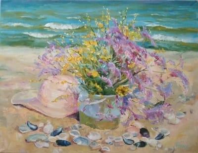 Картина «Степные травы» - живопись для современных интерьеров Украина - цветы