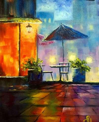 Картина «Столик на двоих»