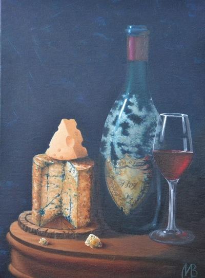 Картина «Сыр и вино»
