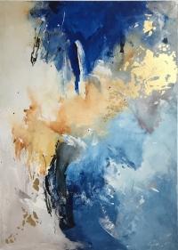 Абстрактная картина «Танец» купить живопись для современных интерьеров Украина