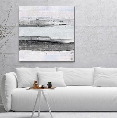 Картина акрил абстракция «Тишина» живопись для современных интерьеров Киев