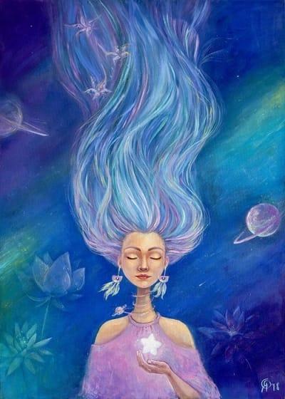 Картина для детской комнаты «Тишина звездного неба» купить картину маслом Киев