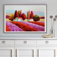 Картина маслом пейзаж «Тоскана» купить живопись для современных интерьеров Киев