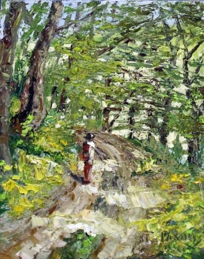 Картина «Тропа в лесу»