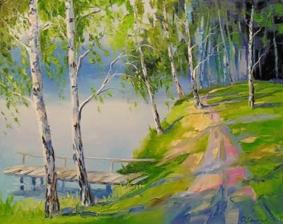 Картина «У реки»