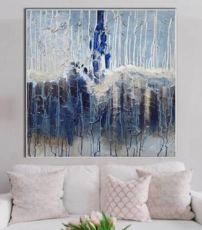 Абстрактные картины для современных интерьеров «Вселенная для нас двоих» купить живопись Украина