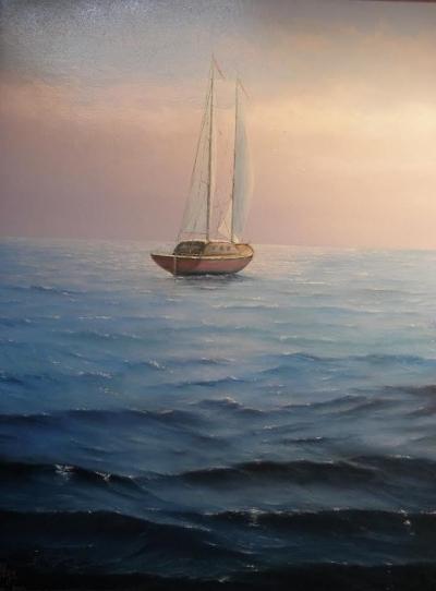 Картина «Яхта. Хорватия»