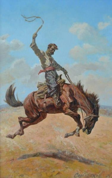 Картина маслом историческая тематика «Усмирение» купить живопись для современных интерьеров Киев