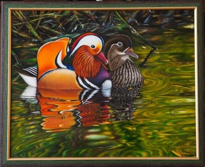 Картина «Утки-мандаринки»