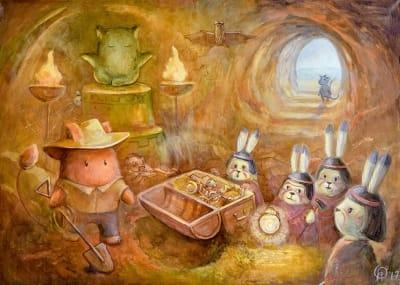 Картина для детской комнаты «В поисках сокровищ» купить картину маслом Киев