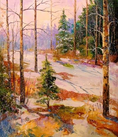 Картина «В зимнем лесу»