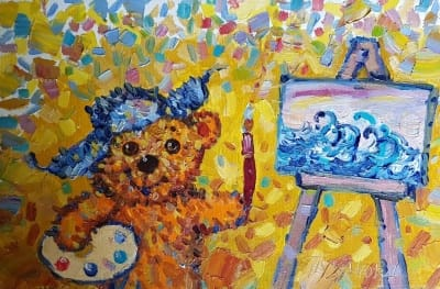 Картина «Мишка - Ван Гог»