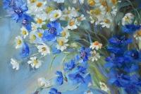 Картина цветы «Полевые цветы» купить живопись для современных интерьеров Украина
