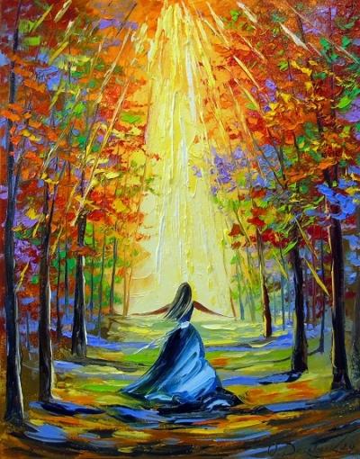 Картина маслом пейзаж «Навстречу солнцу» купить живопись для современных интерьеров Украина