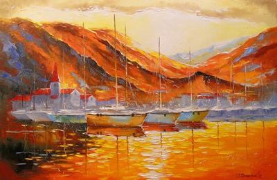 Картина «Вечер у пристани»