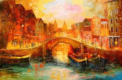 Картина «Вечерний Амстердам»