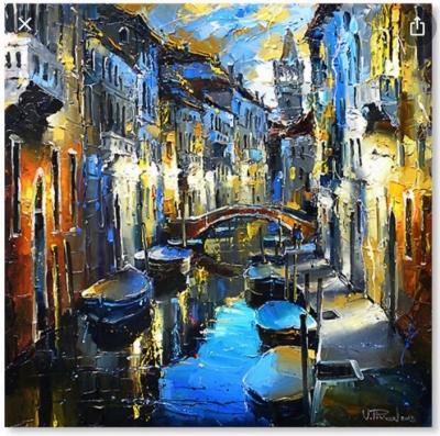 Картина городской пейзаж «Венеция» купить живопись для современных интерьеров Украина