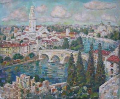 Картина пейзаж маслом Верона