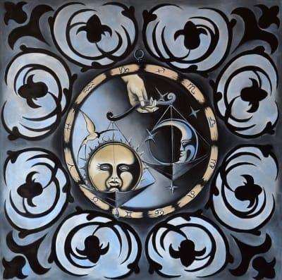 Картина маслом «Весы» купить живопись для современных интерьеров Киев