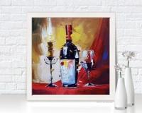 Картина «Красное вино» купить живопись для современных интерьеров Киев