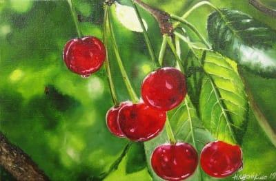 Картина «Вишни» - купить живопись для современных интерьеров Украина