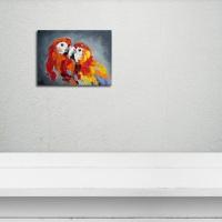 Анималистика картина «Влюбленные» картины для современных интерьеров Украина