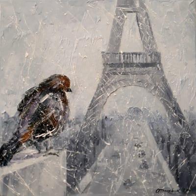Картина «Влюблен в Париж»