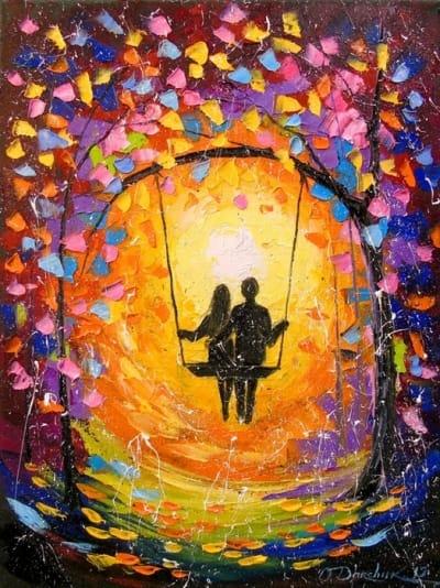 Картина маслом «Влюбленность» - живопись для современных интерьеров Украина