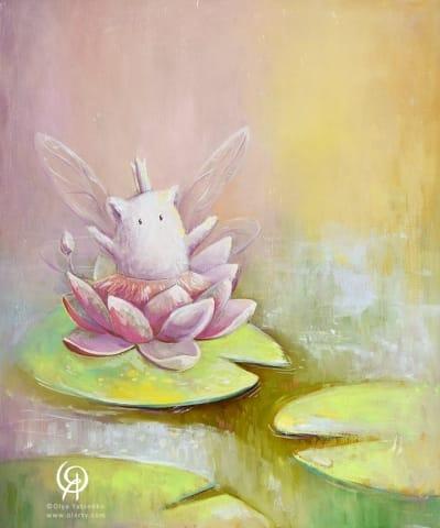 Картина для детской комнаты «Водная лилия» купить картину маслом Киев