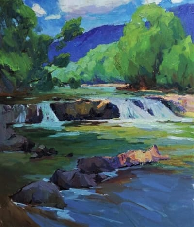 Картина «Водопад в Карпатах»