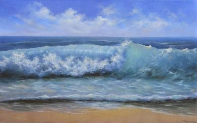 Картина морской пейзаж «Волна» купить живопись для современных интерьеров Украина