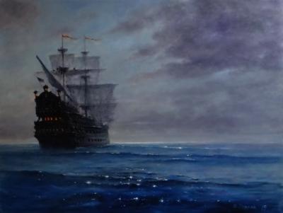 Картина море «Вперед, к неизведанным берегам!» - живопись для современных интерьеров Украина