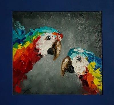 Картина птицы «Всплеск» - живопись для современных интерьеров Киев