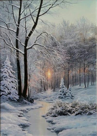Картина «Зимним сном природа спит»