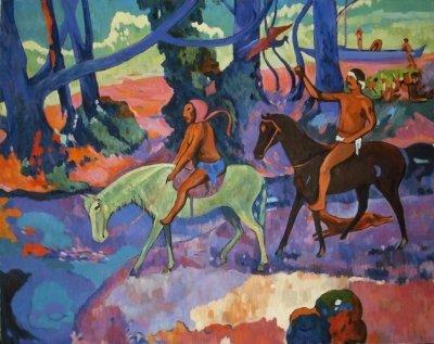 Картина «Таити. Брод», копия картины Поля Гогена