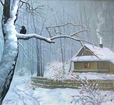 Картина пейзаж Зима
