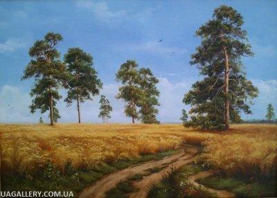 Живопись пейзаж «Рожь» (копия Шишкина)