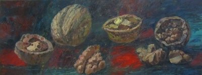 Картина натюрморт «Орехи» часть 1