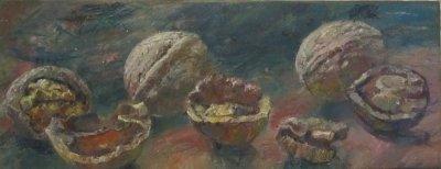 Картина натюрморт «Орехи» часть 2