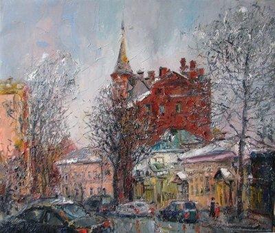 Картина городской пейзаж Киева «Ярославов Вал»