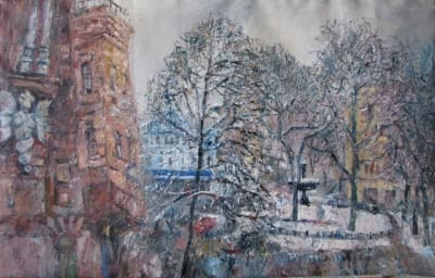 Зимний пейзаж Киева