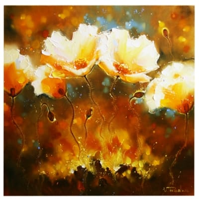 Картина маслом маки «Цвет лета»