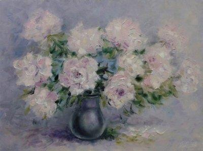 Картина «Нежный аромат пионов»