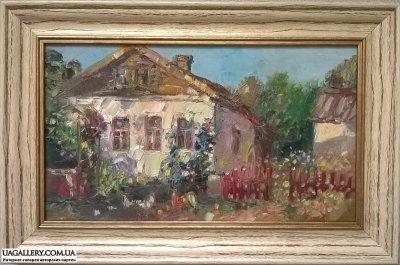 Картина маслом «Сельский пейзаж»