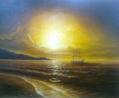 Картина «Закат. Море»