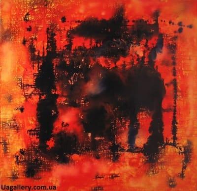 Картина абстракция «Иллюзия цвета»