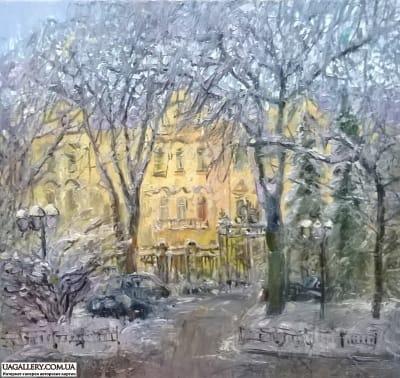 Картина «Киевский пейзаж. Кловский Дворец»