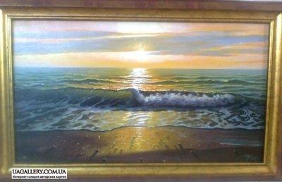 Картина «Морской пейзаж. Закат»